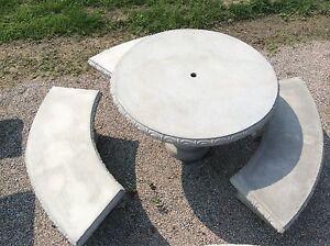 details about 4 round concrete table set outdoor furniture patio table set patio furniture