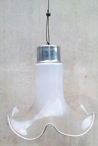 Il lampadario è in ottime condizioni ma può mostrare lievi tracce. Eccezionale Lampadario Anni 60 70 Vetro Soffiato Bianco Murano Ebay