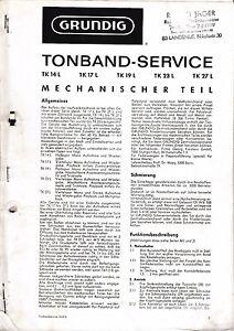 Service Manual-Anleitung für Grundig TK 14 L,TK 17 L,TK 19