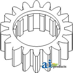 70246545V Tractor Reverse Countershaft Gear For Allis