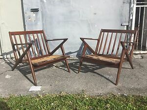 z chair mid century what makes a good gaming pair 50 s danish selig poul jensen sculptural lounge image is loading 039