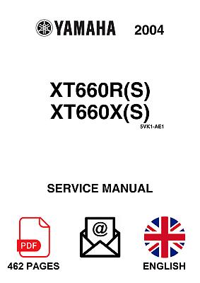 Yamaha xt660r (S) & xt660x (S) 2004 Service Manual EN