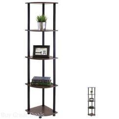 Corner Shelf For Living Room Ikea Floating Cabinet 5 Tier Bedroom Organizer Shelves Storage La Foto Se Esta Cargando Estante De Esquina Niveles Estantes