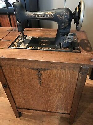 Free Sewing Machine : sewing, machine, Vintage, Antique, Sewing, Machine, Cabinet