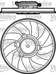VALEO Radiator Condenser Cooling Fan Fits OPEL Vectra