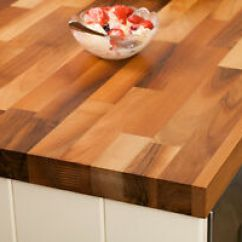 Kitchen Breakfast Bars Free Standing Cabinets Sale Solid Walnut Worktops 3m 4m Ebay Image Is Loading Amp