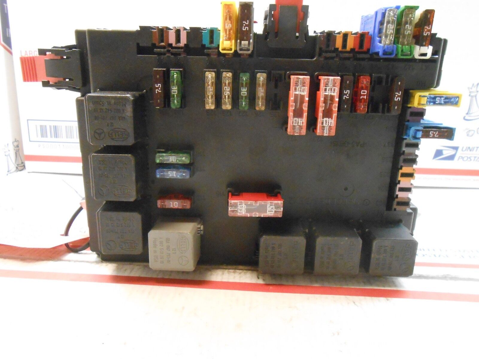 hight resolution of 07 mercedes s550 sedan sam lamp fuse box control mod 2215450801 rd0201 ebay