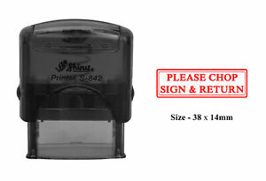 PLEASE CHOP SIGN & RETURN Self Inking Rubber Stamp Shiny Office Stationary Stamp | eBay