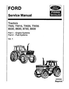 FORD NEW HOLLAND 8530 8630 8730 8830 TW15 TW25 TW35 TW5