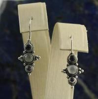 Amethyst Moonstone Drop Dangle Earrings Concho Style ...