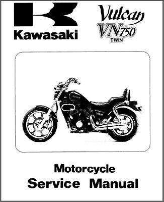 1985-2001 Kawasaki Vulcan 750 Twin ( VN750 ) Service