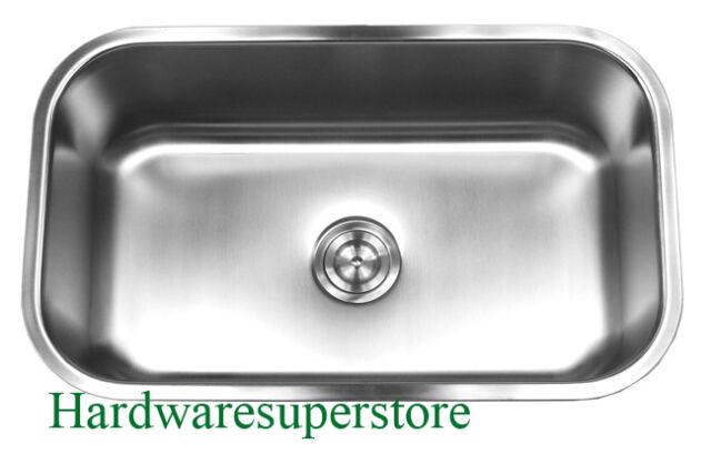 single bowl stainless kitchen sink blanco 30 x 18 undermount steel ebay
