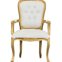French Louis Chair Double Rocker Gold Shabby Chic Wooden Frame Damask Image Is Loading