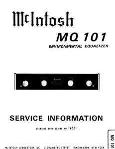 McIntosh mq-101 Schematic Service Manual Repair schaltplan