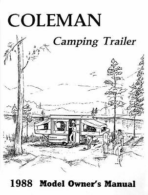 COLEMAN Popup Trailer Owners Manual-1988 Shenandoah