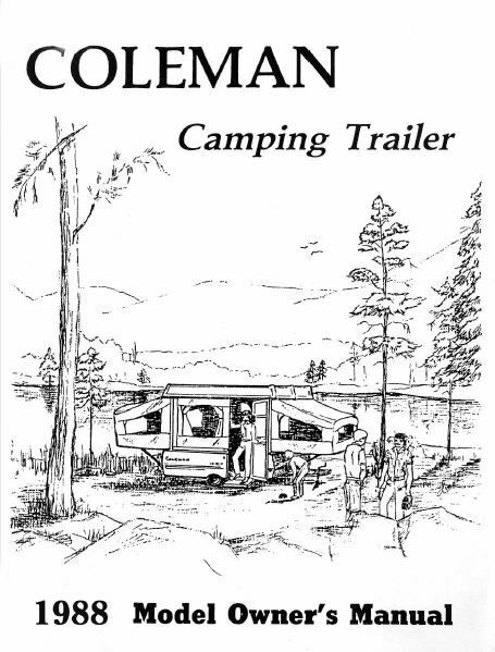 COLEMAN Popup Trailer Owners Manual-1988 Shenandoah