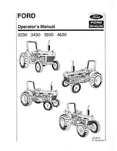 NEW HOLLAND Ford 3230 3430 3930 4630 Tractor SE4810