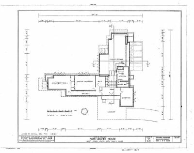Frank Lloyd Wright architectural drawings, Pope House