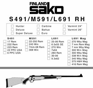 Sako S491, M591, L691 Instruction Manual With Free DVD Gun