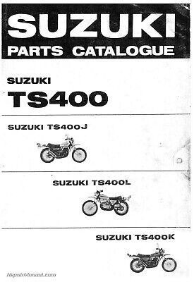1972 1973 1974 Suzuki TS400J L K Motorcycle Parts Manual