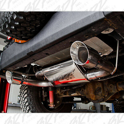 mbrp 2007 2017 jeep wrangler jk and rubicon axle back exhaust system stainless ebay