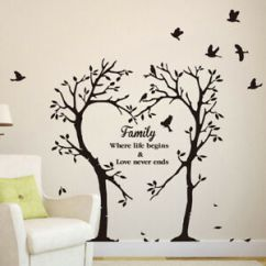 Wall Stickers Living Room Modern With Brown Sofa Family Love Tree Quote Removable Decal Image Is Loading
