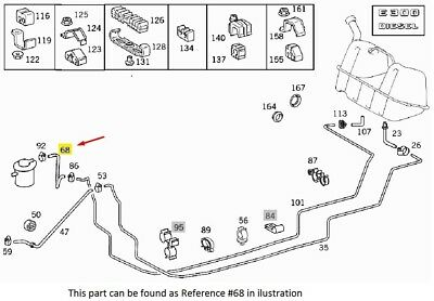 Fuel Hose from Engine to Return Line For Mercedes W210
