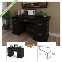 Computer Desks for Home Office with Storage Table Wood ...