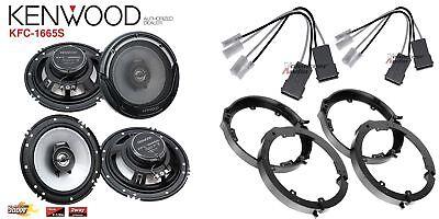 2 Pair Kenwood KFC-1665S 6.5 Speakers + Front / Rear