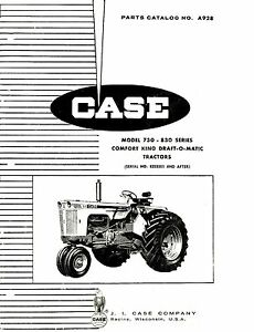 Case 730 Comfort King DOM Tractor Parts Catalog Book
