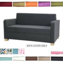 Two Seater Sofa Bed Cover Apartment Size Sofas Calgary Home Customize For Solsta Sleeper Slipcover Image Is Loading