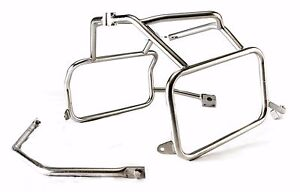 Electro-polished stainless steel racks for BMW R1200GS