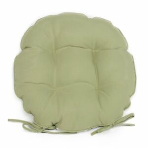 16 round bistro chair cushions lovesac bean bag set of 2 outdoor w ties solid green image is loading 034