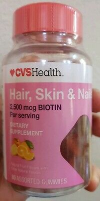 Cvs Hair Skin And Nails : nails, HEALTH, HAIR,, NAILS, 2,500, BIOTIN, GUMMIES, ASSORTED, FLAVOR, 50428381120