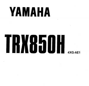 YAMAHA TRX850 1996-2000-2007 FULL WORKSHOP SERVICE REPAIR