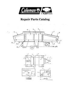 FLEETWOOD Popup Trailer Repair Parts Catalog-2004