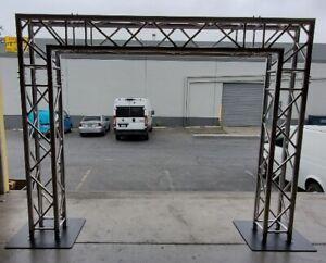 details about 16 x 8 dj lighting truss system goal post trussing kit f34 square segments