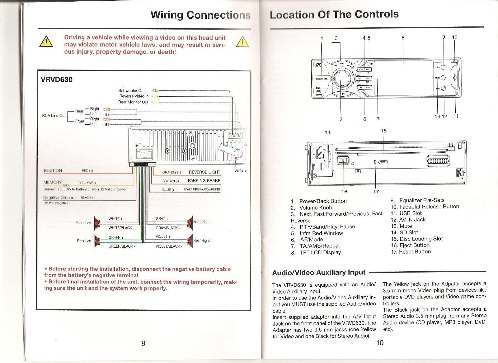 hight resolution of vr3 vrvd630 wiring harness wiring diagram hub radio wiring harness vr3 car stereo wiring harness