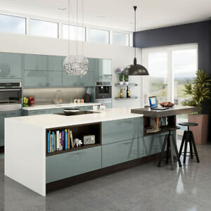 acrylic kitchen cabinets chandalier magnet astral blue cabinet doors end panels and image is loading