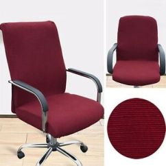 Office Chair Covers Ebay Folding Rocker Pop Cover Home Armchair Durable Slipcover Swivel Image Is Loading
