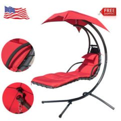 Hanging Hammock Lounge Chair Venus Pedicure Chaise Swing Bed Arc Stand Canopy Beach Image Is Loading