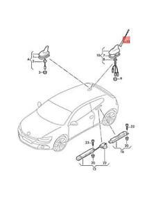 Genuine VW Caddy Golf Plus Variant 4Motion Scirocco rod