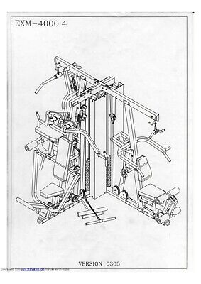 BODY SOLID EXM4000 MULTI GYM USER MANUAL AND ASSEMBLY