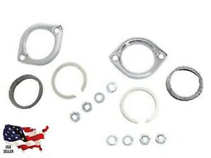 V-TWIN Exhaust Flange Kit Harley Davidson 30-0205 Pair