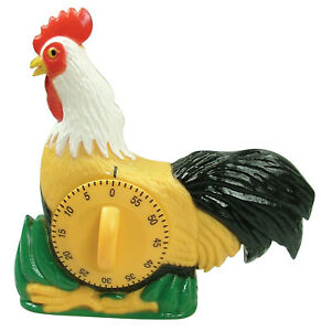 details sur eddingtons coque minuteur w crowing bruit poulet minuteur 60min