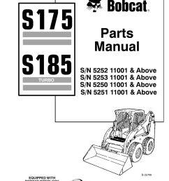 bobcat s175 s185 parts manual 6902826 ebay bobcat hydraulic parts diagram bobcat parts diagrams s 175 [ 1000 x 1294 Pixel ]