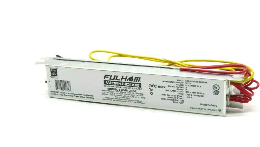 medium resolution of fulham solid state electronic ballast wh5 230 l 230v 50 60hz 1 or 2 outdoor for sale online ebay