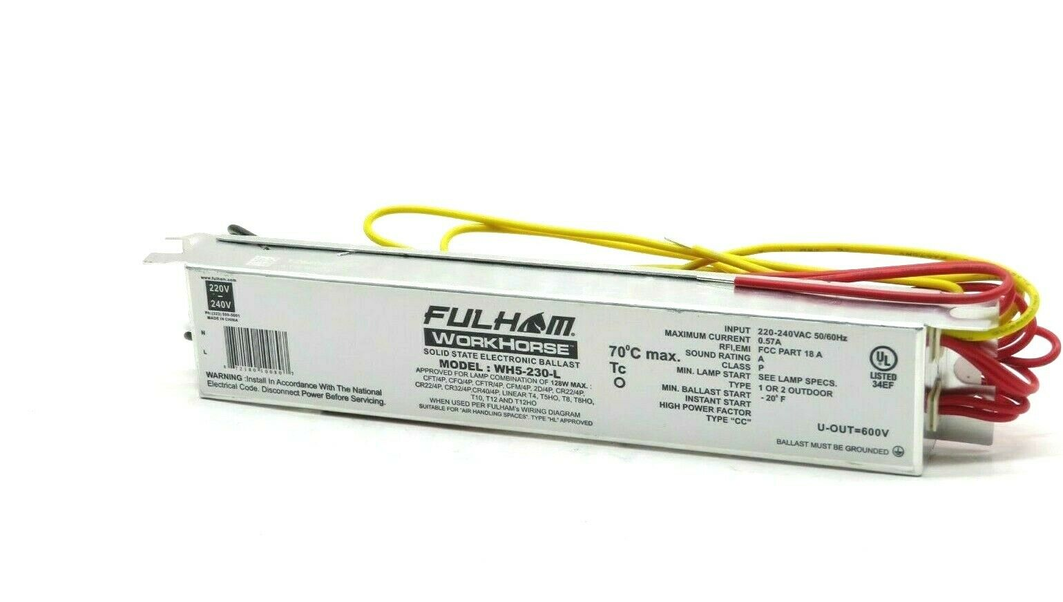hight resolution of fulham solid state electronic ballast wh5 230 l 230v 50 60hz 1 or 2 outdoor for sale online ebay