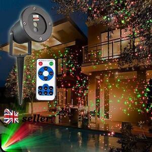 Draussen Laser LED Projektor Licht Landschaft Lampe Garten Halloween Weihnachten  eBay