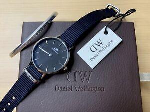 Daniel Wellington Silver DW00100248 Classic Cornwall Black Dial Watch and Cuff 7350068247279 | eBay